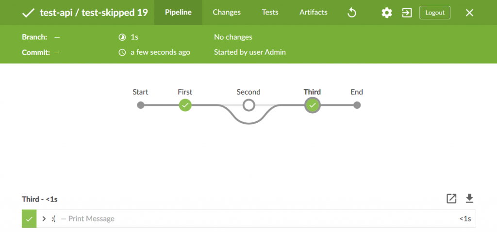 Skipped Stages in Jenkins Scripted Pipeline