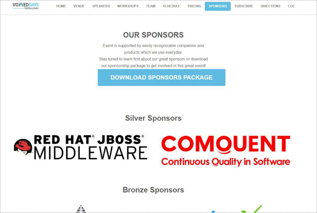 , Comquent and RedHat Silver Sponsors at the VoxxedDays Conference 2016 in Thessaloniki, Comquent GmbH, Continuous Quality in Software